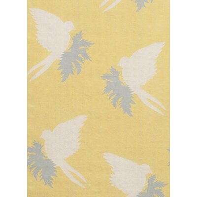 Thomas Paul Flat-weave Dhurrie Corn/Cream Swallows Rug