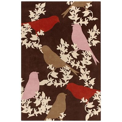 Thomas Paul Tufted Pile Chocolate/Persimmon Goldfinch Rug