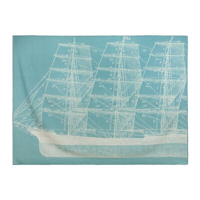 Maritime Wool Throw Blanket
