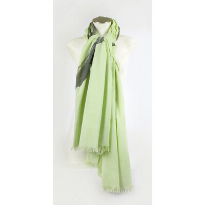 Thomas Paul Dove Cotton Voile Scarf in Lettuce