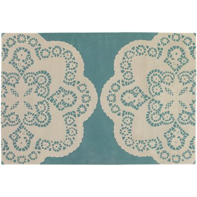 Thomas Paul Tufted Pile Aqua/Cream Doily Rug