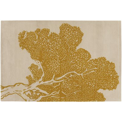 Thomas Paul Tufted Pile Yellow/Cream Tree Rug