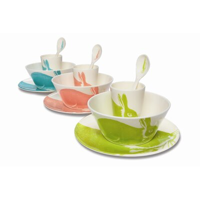 Thomas Paul Bunny 4 Piece Dinnerware Set