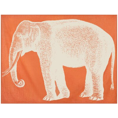 Thomas Paul Baby Elephant Alpaca Throw