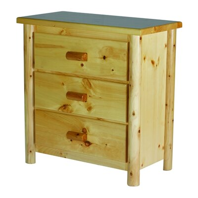 Moon Valley Rustic Nicholas 3 Drawer Chest