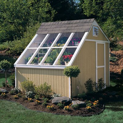 "Handy Home Phoenix Solar 10' W x 7'8.63"" D Wood Garden Shed"