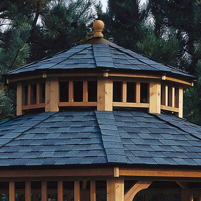san marino two tier roof for 12 39 w gazebo wayfair