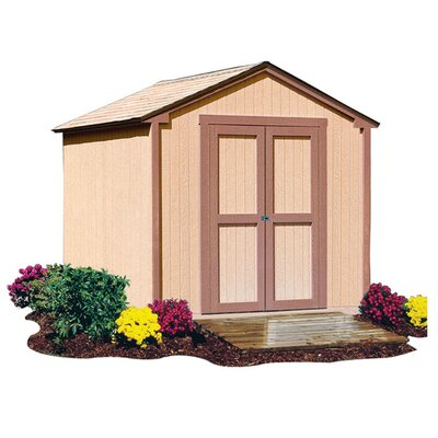 "Handy Home Marco Series 10' W x 7'8.63"" D Kingston Wood Storage Shed"