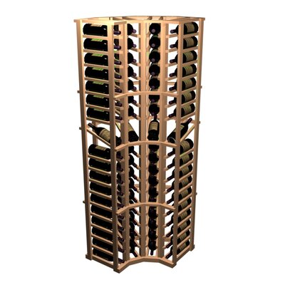 Designer Series 72 Bottle Curved Corner with Display Wine Rack