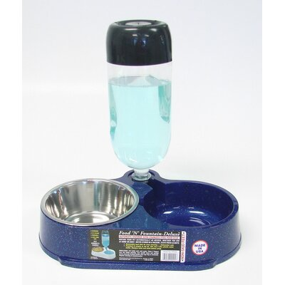 Molor Products Food N' Fountain Pet Food / Water Dish