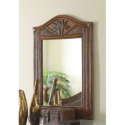 Hospitality Rattan Cancun Palm Mirror in TC Antique Finish