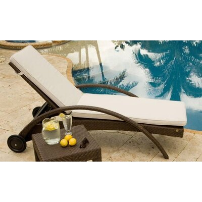 Hospitality Rattan Soho Patio Chaise Lounge with Wheels