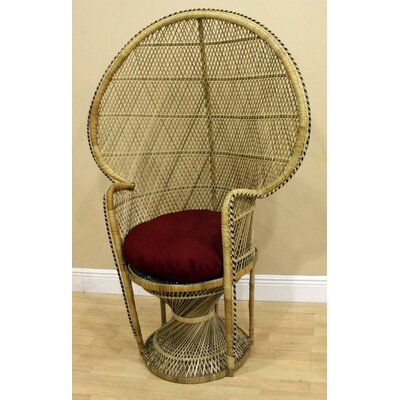 Hospitality Rattan Peacock Buri Fabric Arm Chair