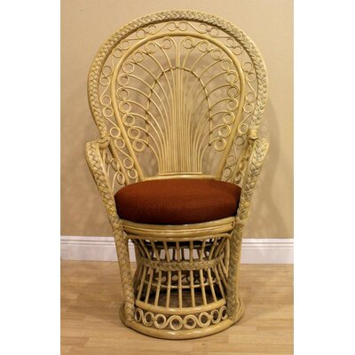 Hospitality Rattan Peacock Rattan Fabric Arm Chair