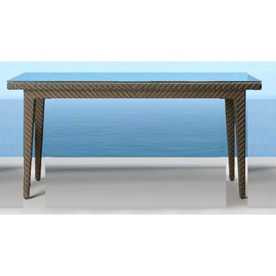 Hospitality Rattan Soho Patio Small Rectangular Woven Dining Table
