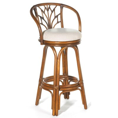 "Hospitality Rattan Valencia Indoor Rattan 24"" Swivel Counter Stool"