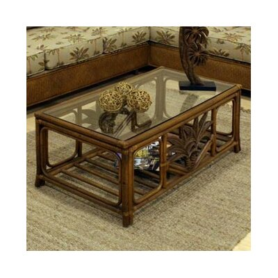 Hospitality Rattan Cancun Palm Coffee Table