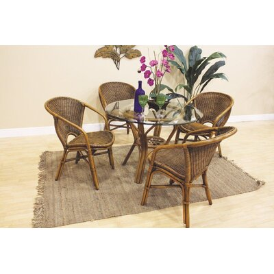 Hospitality Rattan Greece 5 Piece Dining Set