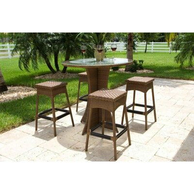 Counter Height Patio Dining Sets : ... Rattan Grenada 5 Piece Patio Bar Height Dining Set AllModern