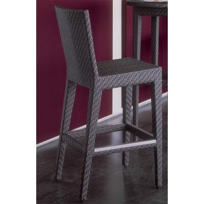 Hospitality Rattan Soho Patio Barstool in Java Brown