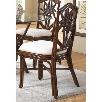 Cancun Palm Dining Side Chair with Cushion