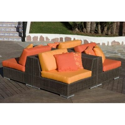 Soho 4 Piece Sectional Deep Seating Group with Cushions