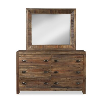 River Ridge 6 Drawer Dresser with Mirror
