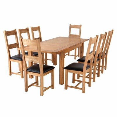 Extendable Dining Table And 8 Chairs Wayfair UK