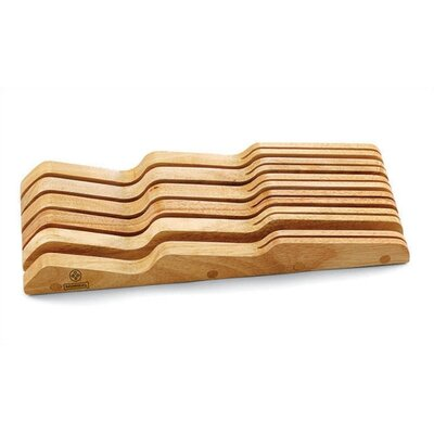 "Mundial 7"" Solid Wood In-Drawer Knife Storage Tray"