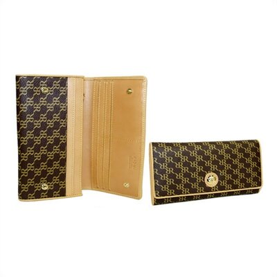 Rioni Aristo Top Fold Wallet in Brown