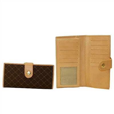 Rioni Signature Continental Wallet in Brown