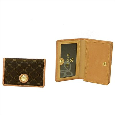 Signature Business Card Holder in Brown