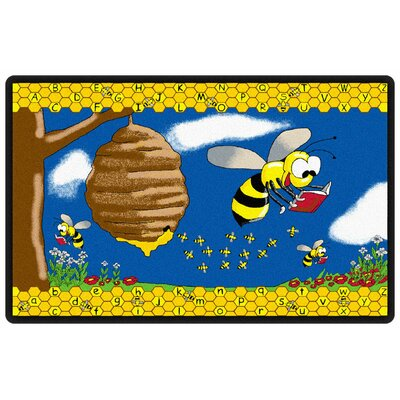 Flagship Carpets Educational Animal Busy Bee Kids Rug