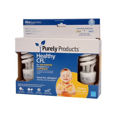 Purely Products Healthy CFL - 9 Watt - 40 Watt Equivalent
