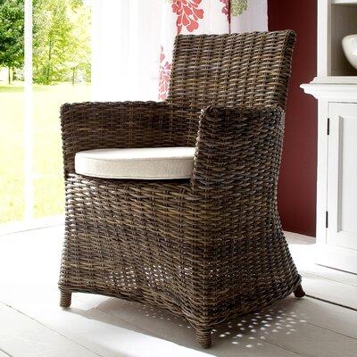 Infinita Corporation Wickerworks Bishop Dining Arm Chair with Cushion