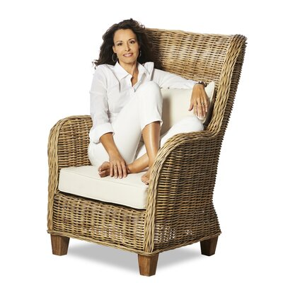 Infinita Corporation Wickerworks Lounge Chair with Cushions