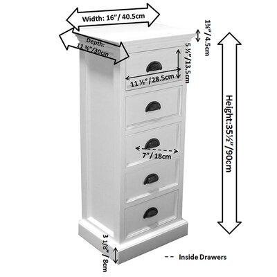 Infinita Corporation Halifax 5 Drawer Dresser