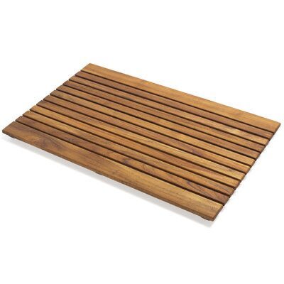 Le spa Teak Floor and Shower Mat with Open Side Slats