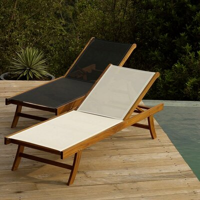 Infinita Corporation Teak Sun Lounger