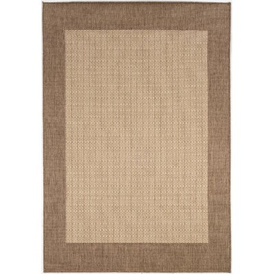 Couristan Recife Checkered Field Natural Cocoa Indoor/Outdoor Rug