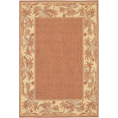 Couristan Recife Island Retreat TerraCotta/Natural Rug