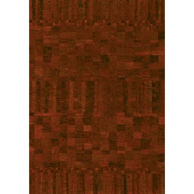 Couristan Easton Poppy Red Crushed Velvet Rug