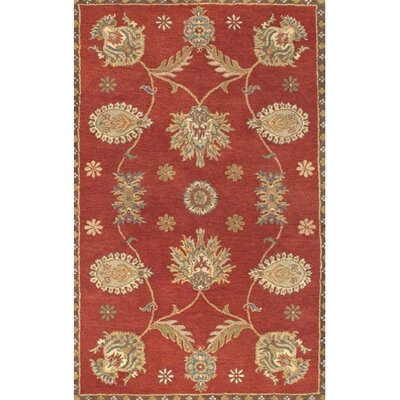 Dynasty All Over Persian Vine Red Rug