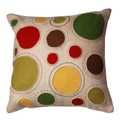 Multicolored Circles Felt Square Pillow