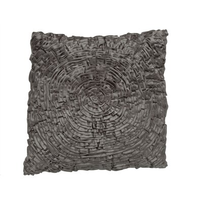 Rouched Flower Square Pillow