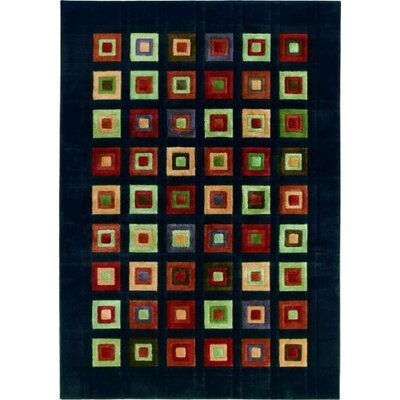 Shaw Rugs Impressions Grid Block Black Multi Rug
