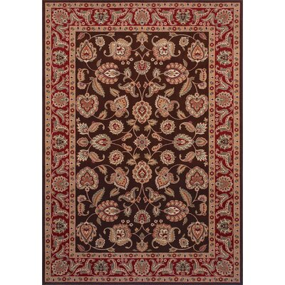 Shaw Rugs Inspired Design Chateau Garden Brown/Red Rug