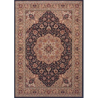 Inspired Design Antique Manor Black Rug
