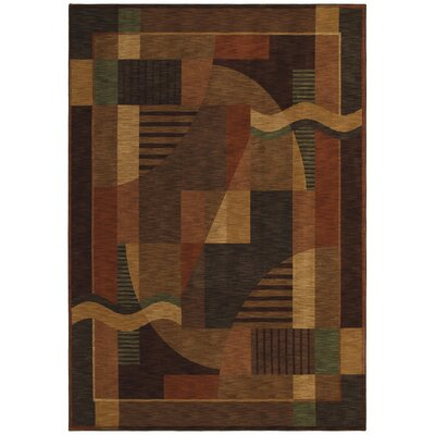 Renaissance Moderne Dark Brown Rug