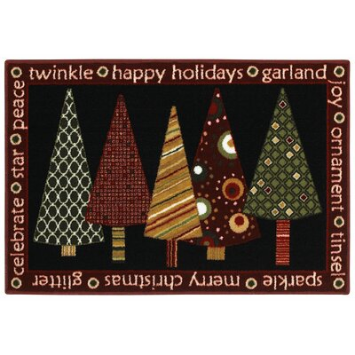 Shaw Rugs Home for the Holidays Twinkle Trees Novelty Rug